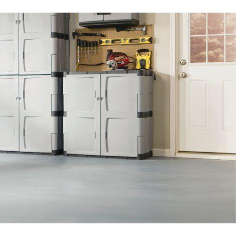 "Heavy-Duty Rubbermaid® Plastic Cabinets - 36""W x 18""D x 37""H"