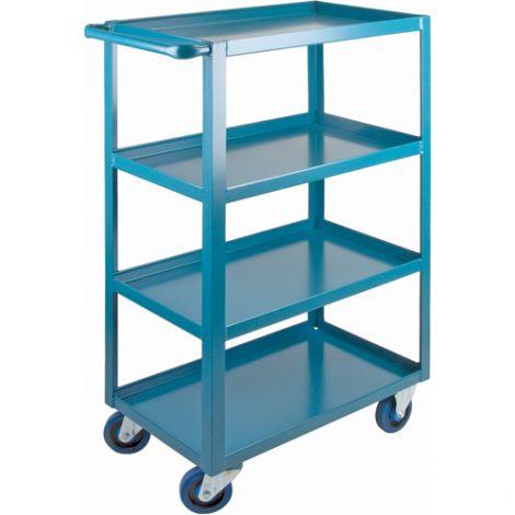 "Heavy-Duty Shelf Carts - 48"" Overall Height - Shelf Size: 18""W x 30""D - No. Shelves: 4"