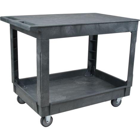 Plastic Flat Shelf Utility Service Cart
