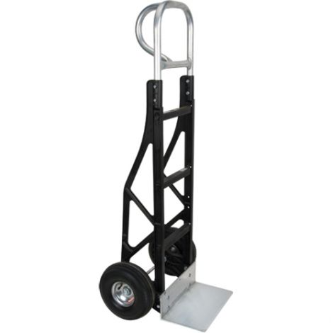 """Nylon Frame Hand Truck - Handle Type: P-Handle - Nose Plate Dimensions: 14""""W x 8""""D - Wheel: Pneumatic"""
