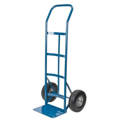 """Flat Free Wheel Hand Truck (Steel) - Handle Type: Continuous Handle - Nose Plate Dimension: 14""""W x 9""""D"""