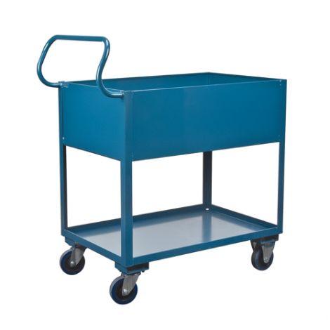 "Deep Lipped Service Cart - No. of Shelves: 2 - Clearance Between Shelves: 16"""