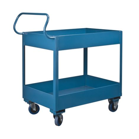 Deep Lipped Service Cart - No. of Shelves: 2 - Clearance Between Shelves: 18""