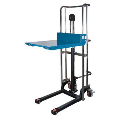 "Hydraulic Platform Lift Stacker - Lifting Capacity: 880 lbs. - Platform Dimensions: 22 1/2""W x 39""D - Ships Free"