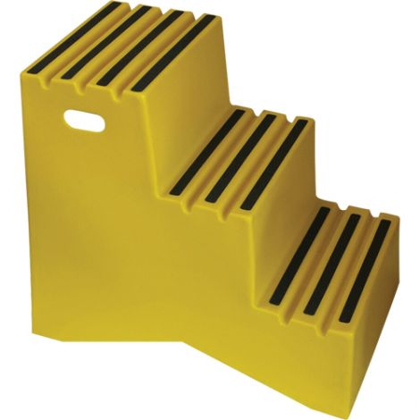 """Industrial Step Stool - No. of Steps: 3 - Overall Height: 30"""" - Overall Length: 32"""" - Overall Width: 22"""""""