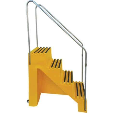"""Industrial Step Stool - No. of Steps: 4 - Overall Height: 66"""" - Overall Length: 43"""" - Overall Width: 22-1/2"""""""