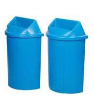 """Recycling Container Half Moon Bullseye™  - Opening: Round - 22 1/2""""L x 12 1/4""""W x 36""""H"""