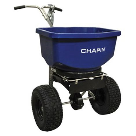Professional Salt and Ice Melt Spreader- Coverage: 16000 sq. ft. - 100 lbs. capacity