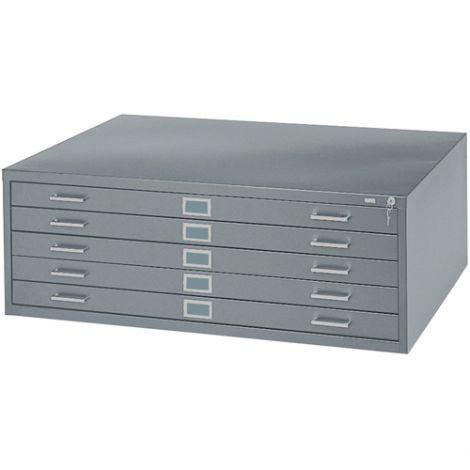 "Steel Plan Files - No. of Drawers: 5 - 40-3/8""W x 29-3/8""D  x 16-1/2""H"