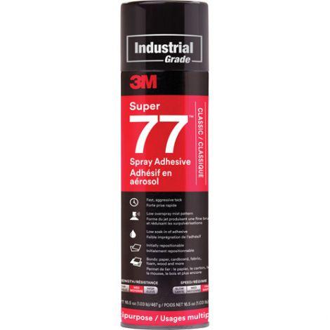 Super 77 Spray Adhesive - Format: 24 oz. - Qty/Case: 8