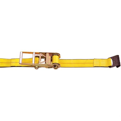 "Ratchet Straps - Type: Flat Hook - Width: 3"" - Length: 30'-  Working Load Limit: 5400 lbs. (2450 kg)"