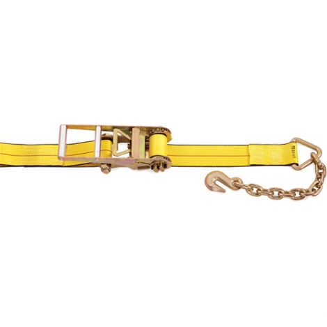 """Ratchet Straps - Type: Chain Anchor - Width: 3"""" - Length: 30' - Working Load Limit: 5400 lbs. (2450 kg)"""