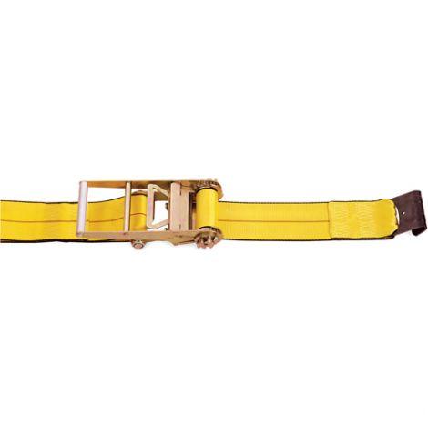 "Ratchet Straps - Type: Flat Hook - Width: 4"" - Length: 30' - Working Load Limit: 5400 lbs. (2450 kg)"