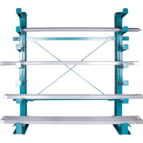 "Cantilever Bar-Stock Racking - Regular-Duty - Kit Type: STARTER - Capacity lbs/column: 28000 - Width: 72"""