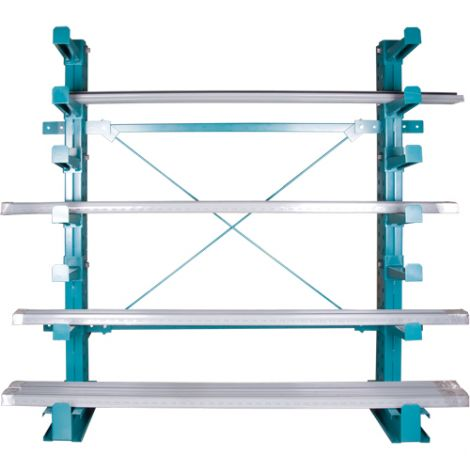 "Cantilever Bar-Stock Racking - Regular-Duty - Kit Type: ADD-ON - Capacity lbs/column: 14000 - Width: 72"""