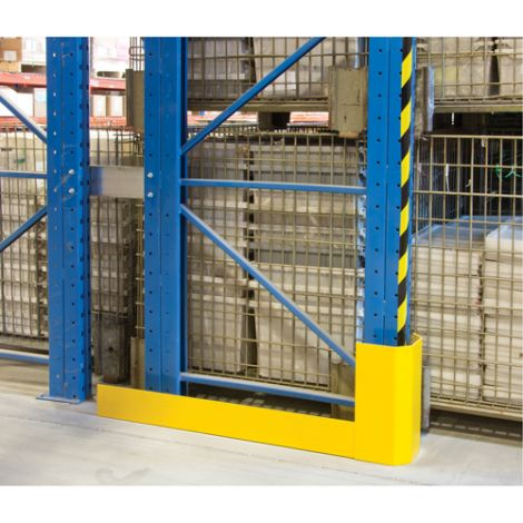 """Racking Aisle Protectors - Single Wrap - Right - Overall Dimensions: 46-1/2""""L  x 3""""W x 12""""H"""