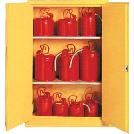 "ULC Approved Insulated Flammable Storage Cabinet - 44""W x 19""D x 66""H  - 2 Door, Manual,  2 Adjustable Shelves  45 Gallons Capacity"