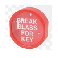 "Key Box - Printed glass, ""Break Glass For Key"""