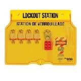 4-Lock Lockout Stations - Station with American Lock® Aluminum Padlocks
