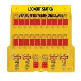 20-Lock Lockout Station - Station with American Lock® Aluminum Padlocks