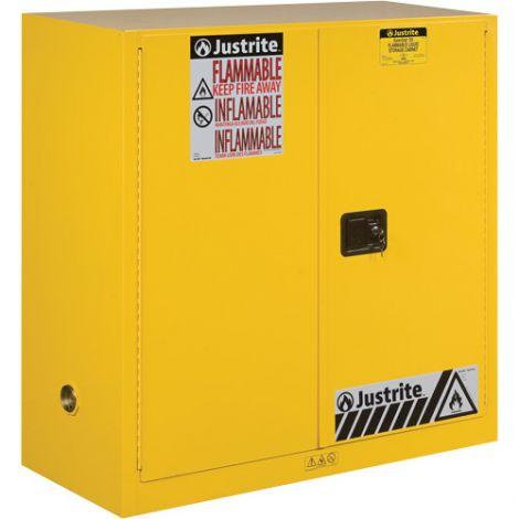 Sure-Grip® Ex Flammable Storage Cabinets - Capacity: 90 Gal. - No. of Doors: 2 - Door Type: Manual