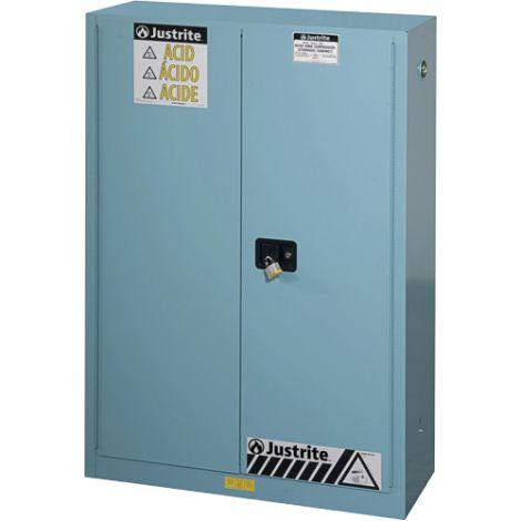 "Sure-Grip® Ex Acid/Corrosive Storage Cabinets - Capacity: 45 gal. - Width: 43"" - Depth: 18"" - Height: 65"""