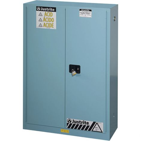 """ChemCor® Lined Acid/Corrosive Storage Cabinets - Capacity: 45 gal. - Width: 43"""" - Depth: 18"""" - Height: 65"""""""