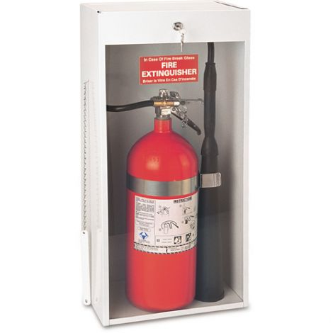 Surface-Mounted Fire Extinguisher Cabinets - Accommodates: 20-lb Dry Chemical or 10-lb CO2