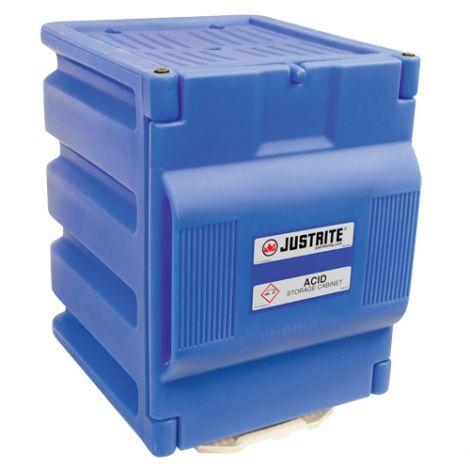 "Counter Top Polyethylene Acid Cabinet - Capacity: 2 Gal. - Width: 14.25"" - Depth: 17.125"" - Height: 19.75"""