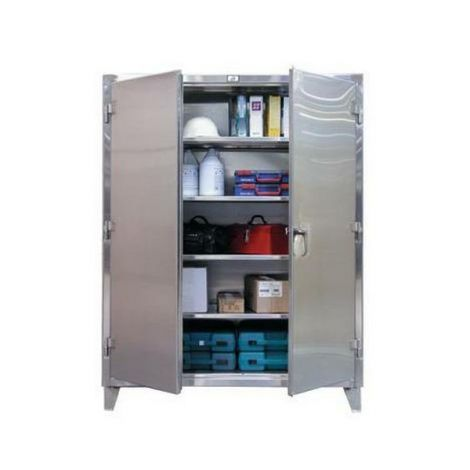 "Extra Heavy-Duty Stainless Steel Cabinet - 36""W x 24""D x 60""H"