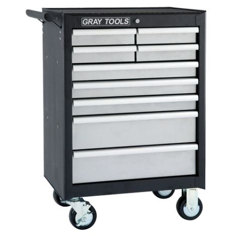 """Roller Cabinet - 9 Drawers - Overall Depth: 18"""" - Overall Width: 26-1/2"""""""