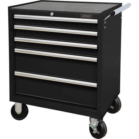"""Industrial Tool Cart - No. of Drawers: 5 - Overall Dimensions: 18-3/4""""D x 27""""W x 31-1/2""""H"""