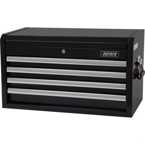 """Industrial Tool Chest - No. of Drawers: 4 - Overall Dimensions: 12""""D x 26""""W x 14-1/4""""H"""