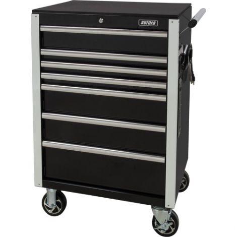 """Industrial Tool Cart - No. of Drawers: 7 - Overall Dimensions: 22""""D x 28""""W x 42-3/8""""H"""