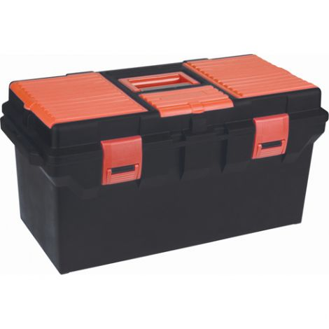 """Plastic Tool Box - Overall Depth: 11"""" - Overall Height: 10-1/2"""" - Overall Width: 22"""" - Case/Qty: 3"""