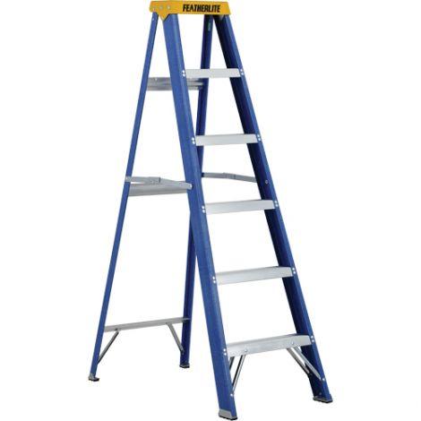 Industrial Duty Fibreglass Stepladders (6300 Series) - Nominal Height: 6'
