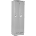 Assembled Clean Line™ Economy Lockers w/Recessed Base - No. of Tiers: 1 - Bank of: 2 - Ships Free