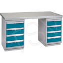 """Pre-designed Workbenches - Configuration: Dual Drawers - Height: 34"""" - Width: 60"""""""