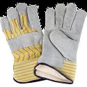 Split Cowhide Fitters Cotton Fleece Lined Gloves - Size: X-Large - Case Quantity: 36
