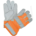Premium Quality High-Viz Split Cowhide Fitters Gloves - Colour: Fluorescent Orange - Case Quantity: 48