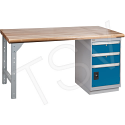 """Pre-designed Workbenches - Capacity: 2500 lbs. - Configuration: Drawers /Door - Height: 34"""" - Width: 60"""""""
