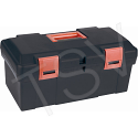 "Heavy-Duty Tool Boxes - Overall Depth: 9-1/2"" - Overall Height: 8"" - Overall Width: 17.5"" - Colour: Black"