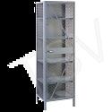"Visible Storage Wire Mesh Cabinet - 21""D x 24""W x 78""H"