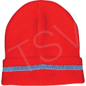 High Visibility Knitted Toques - Colour: High Visibility Orange - Case/Qty: 12