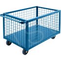 Wire Mesh Box Truck - Volume Capacity: 25 cu. Ft. - Overall Length: 63""