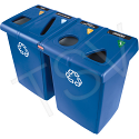 Glutton® Recycling Stations - Capacity: 92 US gal./92 gal. - Material: Plastic - Colour: Dark Blue