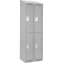 Assembled Clean Line™ Economy Lockers w/Slope Top - No. of Tiers: 2 - Bank of: 2 - Ships Free