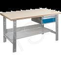 "Pre-designed Workbenches - Configuration: Shelf Pedestal - Height: 34"" - Width: 60"""