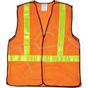 CSA Compliant 5-Point Tear-Away Traffic Safety Vests - Size: 2X-Large - Case/Qty: 8