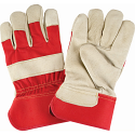 Grain Pigskin Fitters Gloves, Rubberized Cuff - Size: Large - Lining: Cotton - Case Quantity: 36